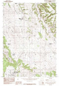 7.5' Topo Map of the Arrowhead Reservoir, WY Quadrangle