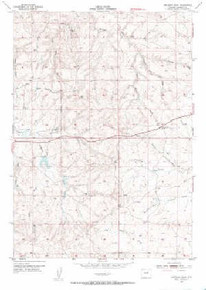 7.5' Topo Map of the Artesian Draw, WY Quadrangle