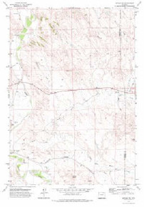 7.5' Topo Map of the Arvada NE, WY Quadrangle