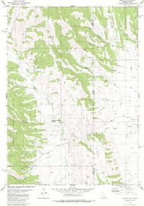 7.5' Topo Map of the Auburn, WY Quadrangle