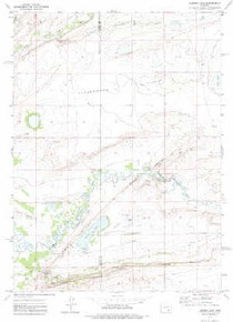 7.5' Topo Map of the Aurora Lake, WY Quadrangle