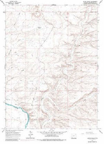 7.5' Topo Map of the Austin Ranch, WY Quadrangle