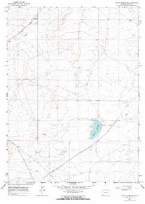 7.5' Topo Map of the Austin Reservoir, WY Quadrangle