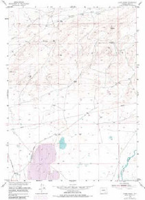 7.5' Topo Map of the Ayres Spring, WY Quadrangle