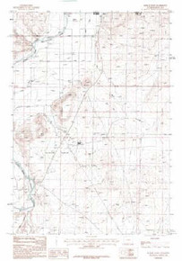 7.5' Topo Map of the Badger Basin, WY Quadrangle