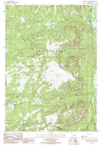 7.5' Topo Map of the Badger Creek, WY Quadrangle