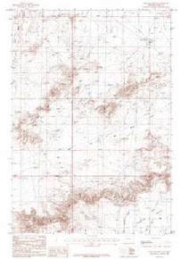 7.5' Topo Map of the Badland Hills, WY Quadrangle