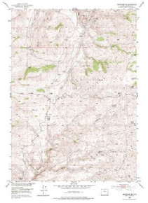 7.5' Topo Map of the Badwater NE, WY Quadrangle