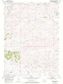 7.5' Topo Map of the Badwater SE, WY Quadrangle