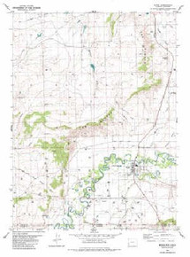 7.5' Topo Map of the Baggs, WY Quadrangle