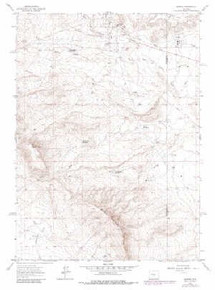 7.5' Topo Map of the Bairoil, WY Quadrangle
