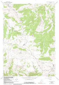 7.5' Topo Map of the Bald Mountain, WY Quadrangle