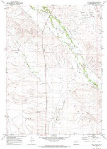 7.5' Topo Map of the Ball Island, WY Quadrangle