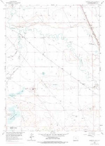 7.5' Topo Map of the Bamforth Lake, WY Quadrangle