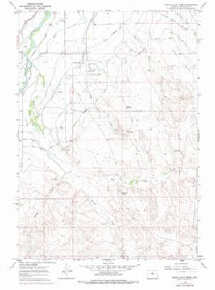 7.5' Topo Map of the Banjo Flats West, WY Quadrangle
