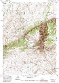7.5' Topo Map of the Banner Mtn, WY Quadrangle