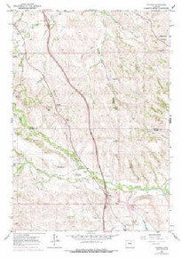 7.5' Topo Map of the Banner, WY Quadrangle