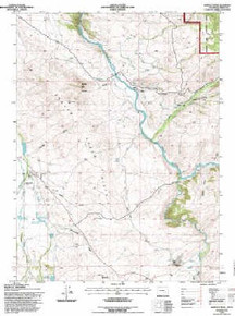 7.5' Topo Map of the Barcus Peak, WY Quadrangle
