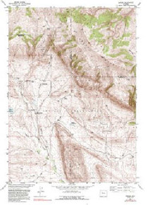 7.5' Topo Map of the Bargee, WY Quadrangle