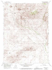 7.5' Topo Map of the Barlow Gap, WY Quadrangle