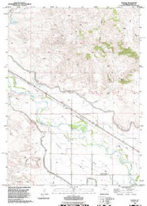 7.5' Topo Map of the Barnes, WY Quadrangle