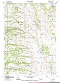 7.5' Topo Map of the Barnum, WY Quadrangle