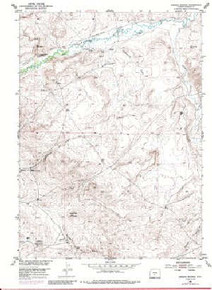 7.5' Topo Map of the Barras Springs, WY Quadrangle