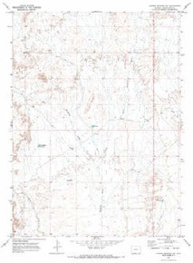 7.5' Topo Map of the Barrel Springs SW, WY Quadrangle