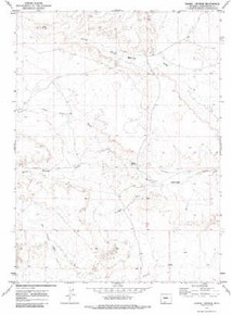 7.5' Topo Map of the Barrel Springs, WY Quadrangle