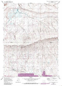 7.5' Topo Map of the Bates Creek Reservoir, WY Quadrangle