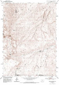7.5' Topo Map of the Battle Mountain, WY Quadrangle