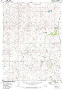 7.5' Topo Map of the Lance Creek, WY Quadrangle