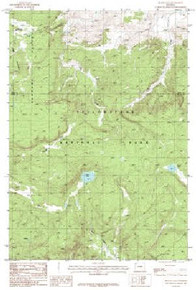7.5' Topo Map of the Beach Lake, WY Quadrangle