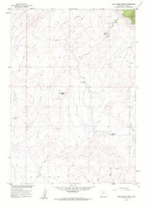 7.5' Topo Map of the Bear Creek Ranch, WY Quadrangle