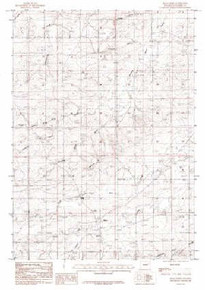 7.5' Topo Map of the Bear Creek, WY Quadrangle