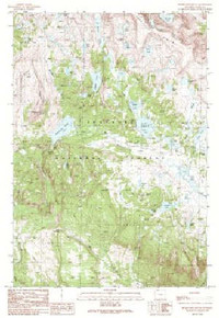 7.5' Topo Map of the Beartooth Butte, WY Quadrangle