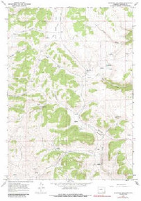 7.5' Topo Map of the Beartrap Meadows, WY Quadrangle