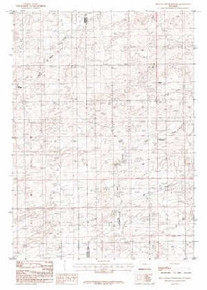 7.5' Topo Map of the Beauchamp Reservoir, WY Quadrangle