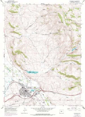 75 Topo Map of the Evanston WY Quadrangle WSGS Product Catalog