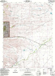 7.5' Topo Map of the Hightower SW, WY Quadrangle