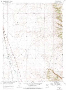 7.5' Topo Map of the Howell, WY Quadrangle