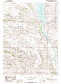 7.5' Topo Map of the Kemmerer Reservoir, WY Quadrangle