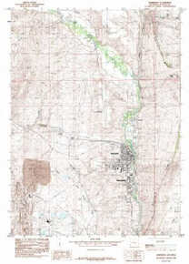 7.5' Topo Map of the Kemmerer, WY Quadrangle