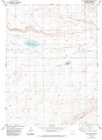 7.5' Topo Map of the Kindt Reservoir, WY Quadrangle