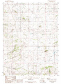 7.5' Topo Map of the King Mountain, WY Quadrangle