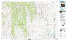 USGS 30' x 60' Metric Topographic Map of Fontenelle Reservoir, WY Quadrangle