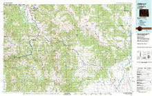 USGS 30' x 60' Metric Topographic Map of Jackson, WY Quadrangle