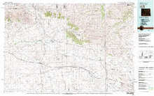 USGS 30' x 60' Metric Topographic Map of Lysite, WY Quadrangle