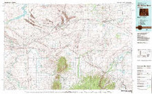 USGS 30' x 60' Metric Topographic Map of Medicine Bow, WY Quadrangle