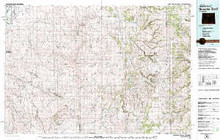 USGS 30' x 60' Metric Topographic Map of Nowater Creek, WY Quadrangle